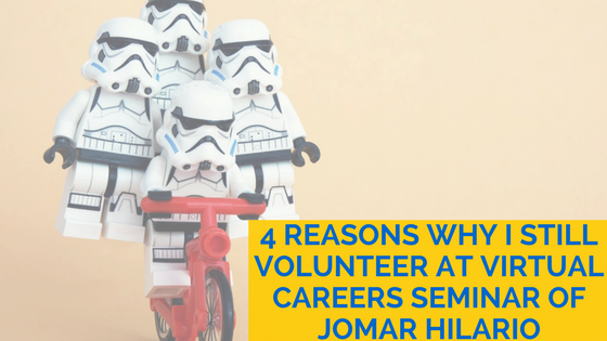 4 reasons why I still volunteer at Virtual Careers Seminar of Jomar Hilario