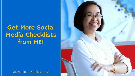 Get More Social Media Checklists from Me